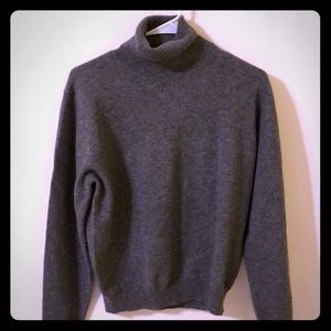 Sweaters - 100% Cashmere Gray Turtleneck Sweater